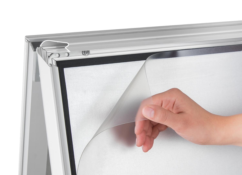 Schutzfolie und Ersatzfolie für Kundenstopper aus PVC in allen DIN ...