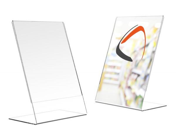 Acryl l-Aufsteller - DIN A3, DIN A4, DIN A5, DIN A6, DIN A7, DIN Lang