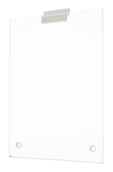 Acrylglas Plakattasche für Slatwalls in U-Form