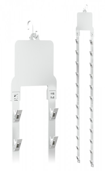 Merchandisestrip im Doppelstrang mit Klammern