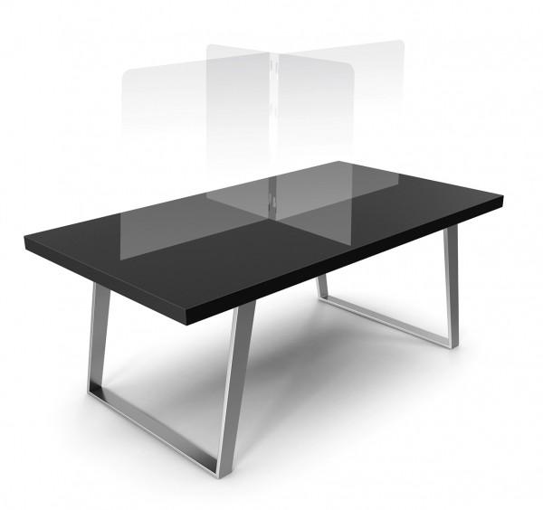 Transparenter Tisch-Trenner