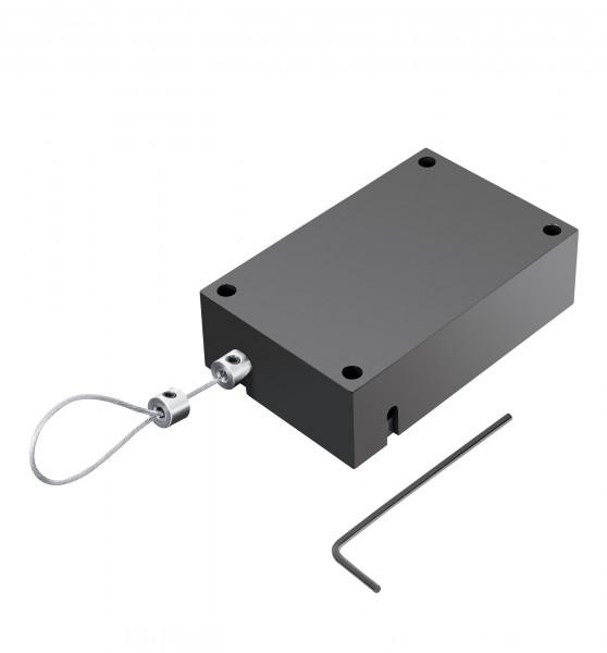 Pullbox Rechteck mit Rückzugssicherung