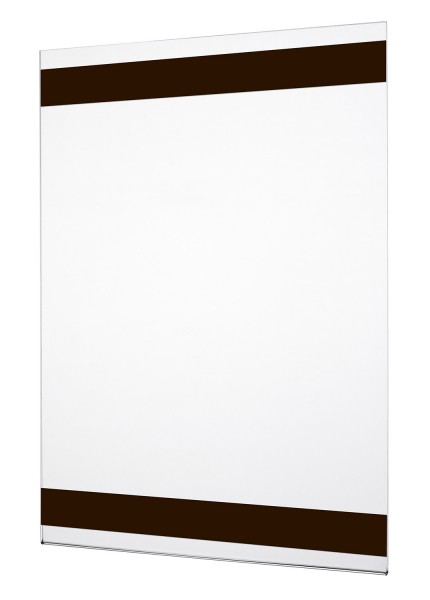 Acrylglas Plakattasche magnetisch in U-Form